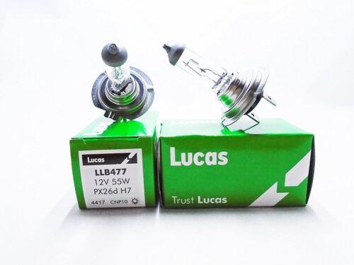 Voiture Projecteur Faisceau De Croisement Ampoule 477//499 Paire de Lucas H7
