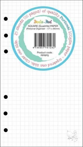 25 Blätter Dodo Personal Quadriert/Klar 100gsm Clairfontaine-Style Rule Papier