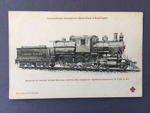 1915-STEAM-LOCOMOTIVE-N-801-COMPOUND-N-7-Lehigh-Valley-Transit-Company-TRAIN