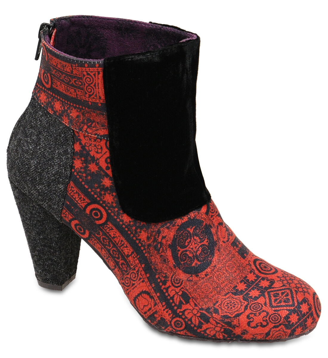 Desigual Authentic Women's Floral Synthetic Corrasco Ankle Boots 27as359-3092