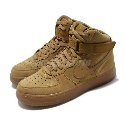 Nike Air Force 1 High LV8 3 GS Wheat Flax Womens Kid Casual Shoes AF1 CK0262 700 | eBay