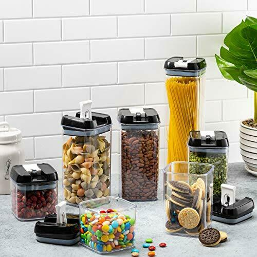 Kitchen /& Pantry Organization Containers BPA Free Clear Details about  /7 Pc Food Storage Set