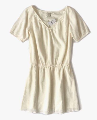 Ivory Gauze Lined Drop Waist Dress NWT Womens S J Crew Factory
