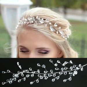 Edles Hochzeits Haarband mit Strass Tiara Braut Diadem
