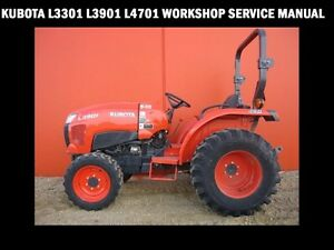 Details about KUBOTA L3301 L3901 L4701 WORKSHOP MANUAL - 650pg with Tractor  Service & Repair