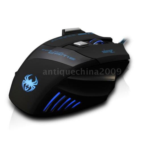 ZELOTES T-80 USB wired Gaming Mouse Multi Color LED Optical 7 Button Mouse J4J3