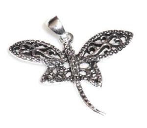 Libelle-Anhaenger-Damen-Kind-925-Sterling-Silber-filigran-Neu-Dragonfly-Pendant
