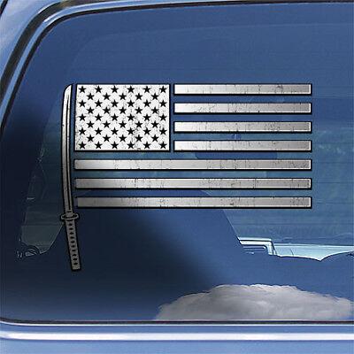USA Samurai Flag Decal Sticker samurai sword katana bushido window decal sticker