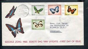 Ned-Nieuw-Guinea-FDC-E5-E-5-Sociale-Zorg-1960-vlinders-adres-ds-Manokwari