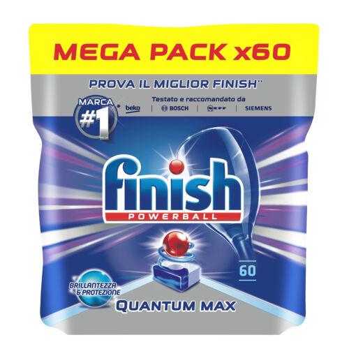 60 Caps Finish Quantum Max Pastiglie Detersivo Lavastoviglie Regular Mega Pack