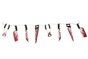 2-4M-Halloween-Bloody-Weapons-Garland-Blood-Saw-Knife-Hanging-Decoration-Prop