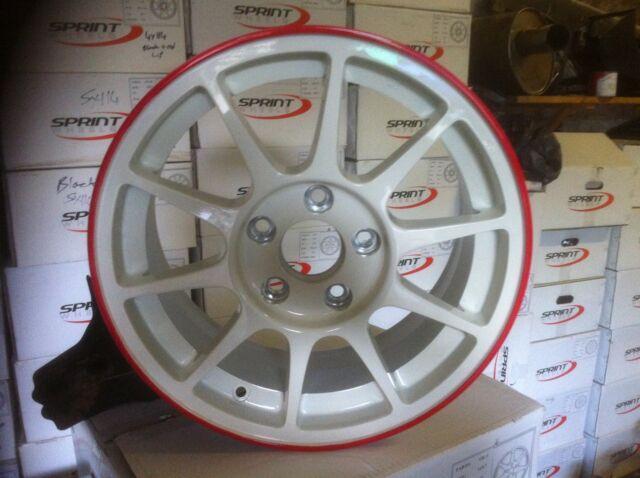 "1x Negro 15 /""Sprint sw96 Rueda De La Aleación 4x114 96 Spec Integra Type R Dc2 Mb6 Swift"