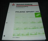 Werkstatthandbuch Elektrik Mitsubishi Pajero V60 Sport 2002 Schaltpläne