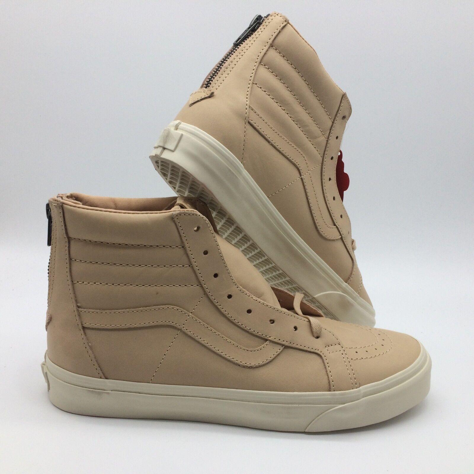Vans Men's shoes ''Sk8 Hi Reissue Zip'' (Veggie Tan Leather) tan