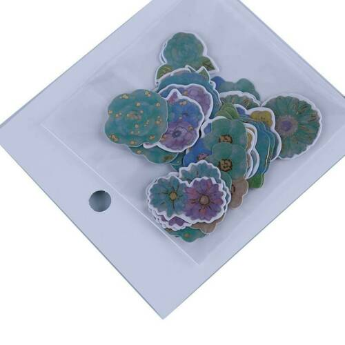 Plant Flower Stickers DIY Diary Scrapbooking Decal Cups Sticker Decor W