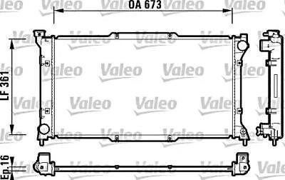 VALEO Engine Cooling Radiator Fits SUBARU Legacy Liberty ...
