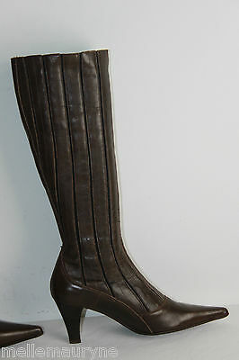 Bottes Pointues Le Defile Cuir Rigide Marron T 39 Tbe Ultima Tecnologia