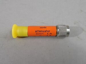 Narda 23557 Attenuator 6dB DC-12.4GHz Type-N - NEW