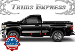 """TYGER For 07-2013 GMC Sierra Extended Cab Body Side Molding Top 1/"""" 4PC"""