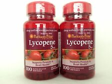 2 Puritan's Pride Lycopene 5mg **Promotes Prostate & Heart Health** Made In USA