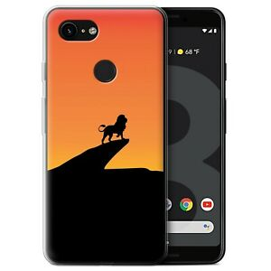 Gel-TPU-Case-for-Google-Pixel-3-Minimalist-Movie-Art-Lion-Inspired