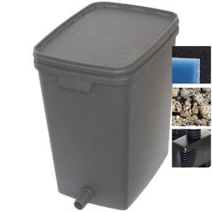 Velda Box Filter 7000 Set mit Pumpe und Filtermaterial - bis 7000 Liter Teich