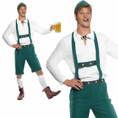 Homme Allemand Oktoberfest Bière Hommes Bavarois Lederhosen Déguisement Halloween Neuf