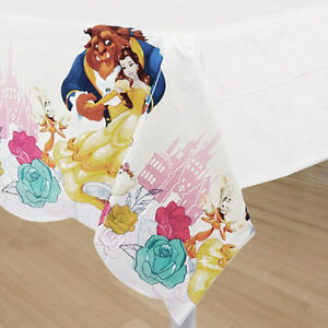 Beauty And The Beast Plastic Table Cover Birthday Decorations Party