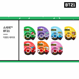 BTS-BT21-Official-Authentic-Goods-Scotch-Tape-7SET-Tracking-Number