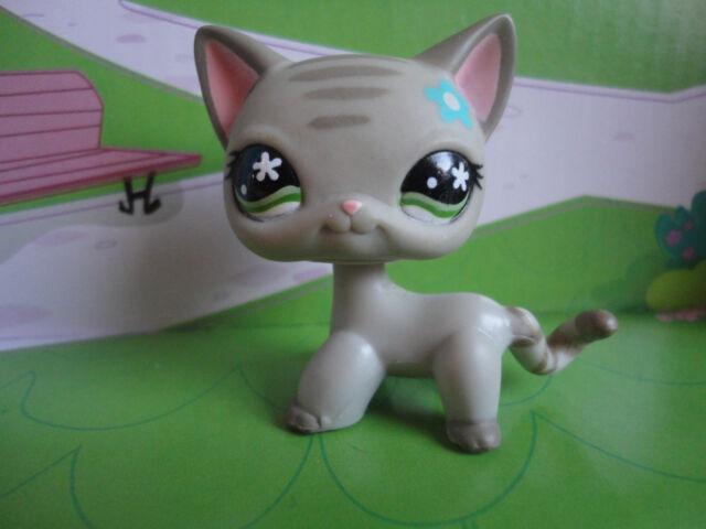 LPS LITTLEST Pet Shop SIAMESE CAT Kitty Gray Shorthair CATS 467 ? 483 Kitten LPS