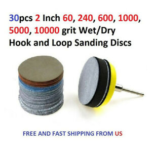 30pcs-60-240-600-1000-5000-10000-Grit-Wet-Dry-Hook-And-Loop-Sanding-Discs-Parts