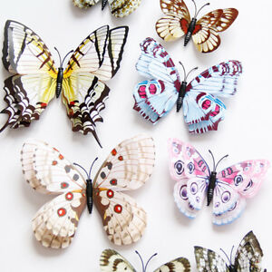 Image Is Loading 12Pcs 3D Butterfly Wall Stickers PVC Kids Room