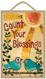 Count-your-blessings-blue-birds-sun-CUTE-Stephanie-Burgess-Wood-Plaque-Sign-460