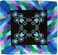 100% Silk Mens Pocket Square Hanky Rush Limbaugh No Boundaries Fanfare Blue