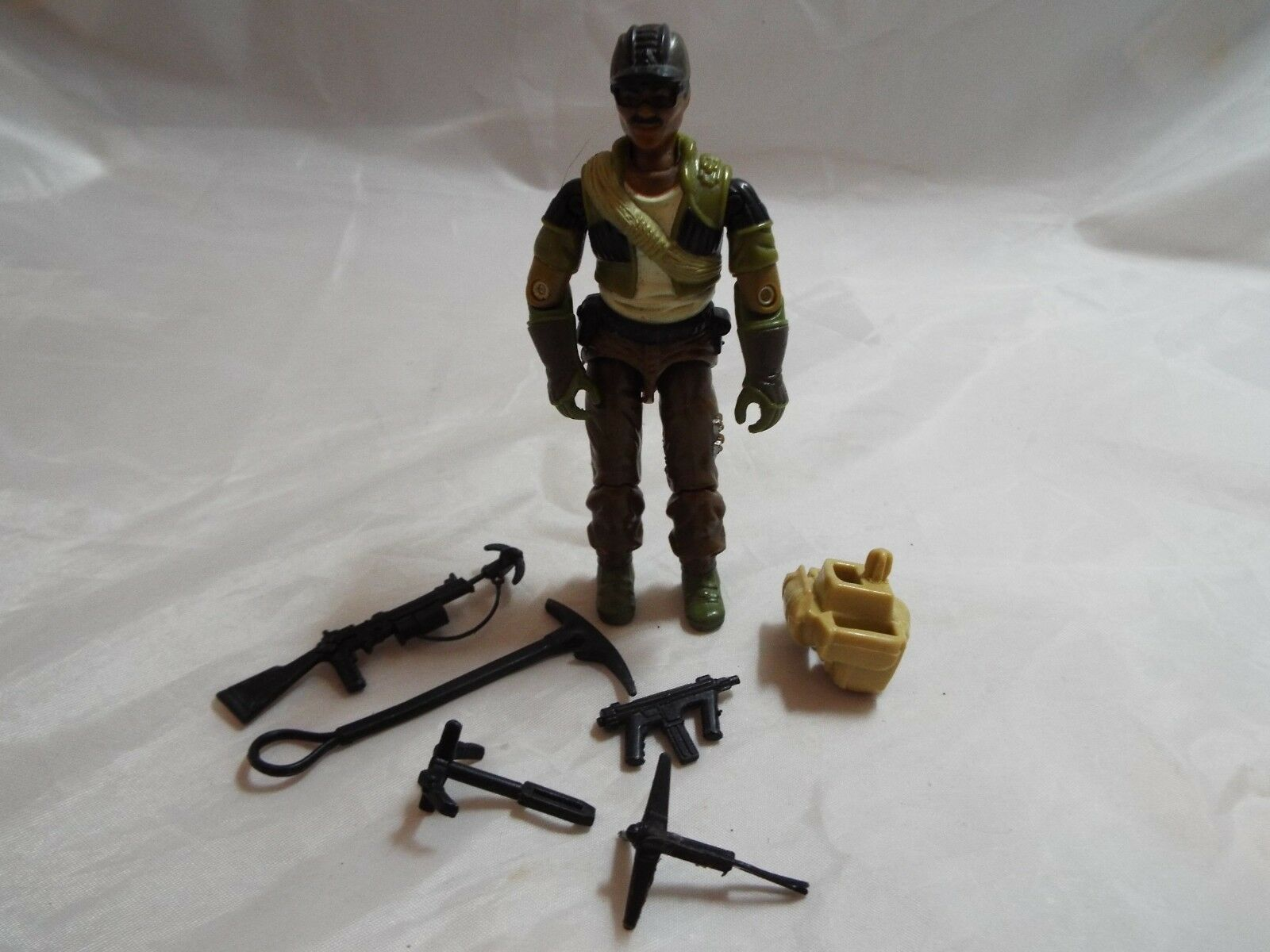G.I.JOE, ACTION FORCE FIGURE ALPINE V1 FROM 1985 NEAR COMPLETE