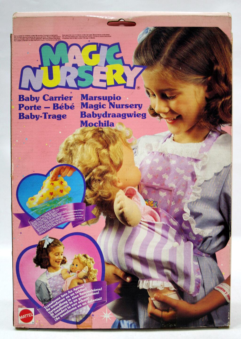 VERY RARE VINTAGE 1990 MAGIC NURSERY BABY CARRIER MATTEL NEW MIB