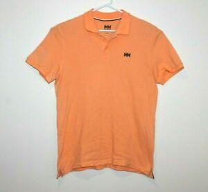 Helly-Hansen-Premium-Orange-Polo-Shirt-Size-Men-039-s-Large