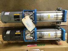 2x Rebuilt Goulds E Sv 5sv10td2m20 Stgstainless Vertical Water Pump Liquid End