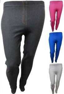 New-Womens-Plus-Size-Denim-Stretch-Jeggings-Skinny-Stretchy-Jeggings-Jeans