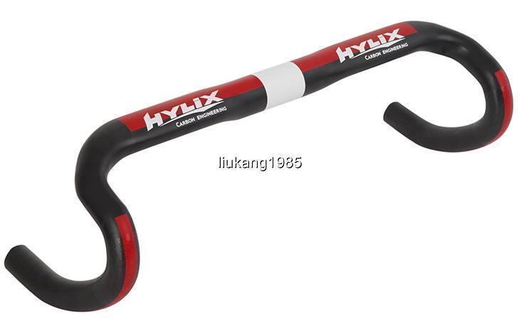 Hylix Ultra Luce ERGONOVA interamente in carbonio compatto Road Bike Handle bar31.8mm180g