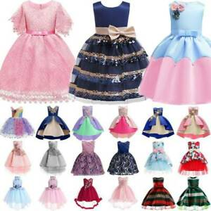 Princess-Kids-Girls-Party-Formal-Dress-Bridesmaid-Wedding-Ball-Gown-Tutu-Dresses