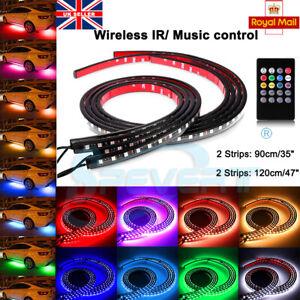 4x-Rhythmic-RGB-LED-Tube-Neon-Strip-Lights-Kit-Under-Car-Underglow-Underbody