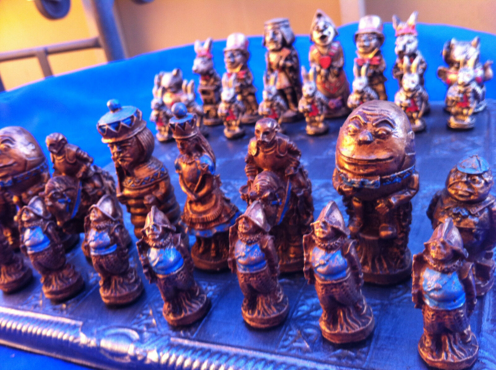 Alicia a través del espejo juego de ajedrez, Colors Personalizables (sólo piezas Boa