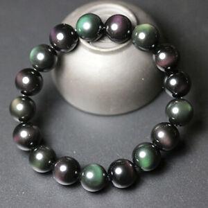 Women-Men-Tiger-Eye-Hematite-Rainbow-Obsidian-Natural-Stone-Bracelet-Gifts-10MM