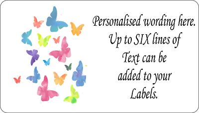 260 x Colourful Hearts Retro MINI PERSONALISED Self Adhesive Labels