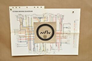 vtg 1985 yamaha fz750 n factory color schematic wire wiring diagram 1986 gsxr 750 image is loading vtg 1985 yamaha fz750 n factory color schematic