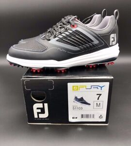 Footjoy Fury Golf Shoes Mens Size 7 Medium 51103 Black Red Grey White Ebay