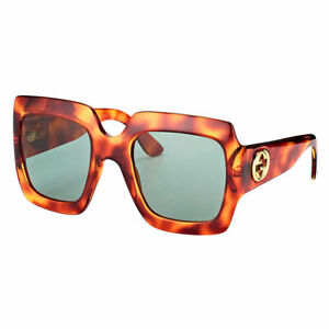 b56973b1a98 Origianl Gucci GG 0053S 002 Light Havana Plastic Square Sunglasses ...