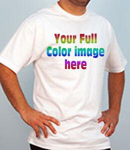 Custom printed t shirts full color imprint your logo for Custom full color t shirt printing
