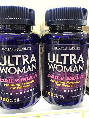 Holland Barrett Ultra Woman Formula 2x100 Caplets Free International Postage Ebay